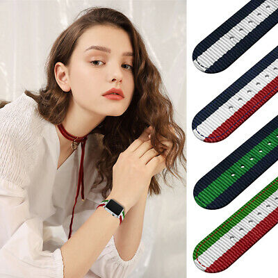 AU14.99 • Buy Durable Woven Nylon Wrist Band IWatch Loop Belt For Apple Watch Series 5 4 3 2
