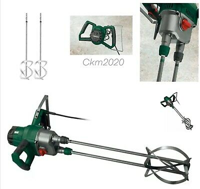 Parkside 1800W Mixer For Plaster Paint Cement Mortar Twin Paddle • 89.99£