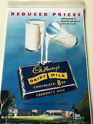 £12.50 • Buy Cadburys Dairy Milk Old Advertisement Retro Vintage Repro Metal Sign