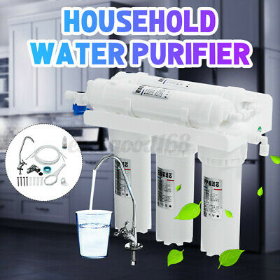 3+2 Household Water Purifier Filter System Under Sink Drink Faucet Replace Kits • 32.49£