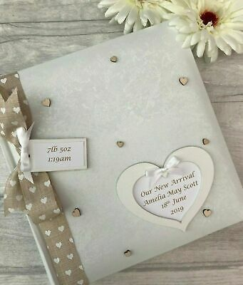£24.95 • Buy Personalised Traditional Our New Arrival Baby Photo Album Gift 200 6x4 Photos