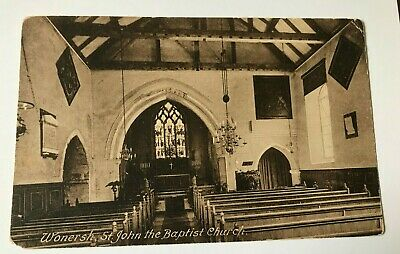 Frith's Series Postcard Of Interior Of St. John The Baptist Church, Wonersh. • 1£