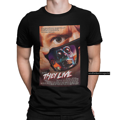 £8.99 • Buy They Live T-shirt Poster Chinese Japanese 80s 90s Horror Myers Pennywise IT
