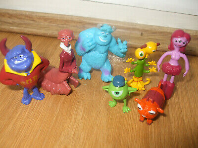 Job Lot Monsters Inc University Figures Small Toys Mike Sully Carrie Cake Topper • 7.99£
