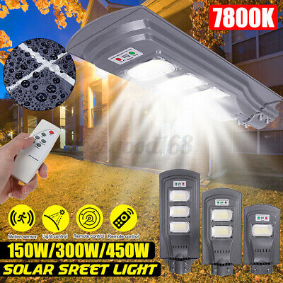 150/300/450W Solar Powered Street Light PIR Motion Garden Road Lamp  • 26.18£