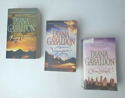 AU44.95 • Buy Lot X 3 Diana Gabaldon Books Outlander Series Cross Stitch, Voyager, Fiery Cross