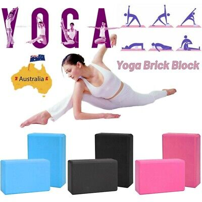 AU14.99 • Buy Fitness Block Brick Gym Sport Aid Tool Home Exercise Yoga Practice EVA Foaming