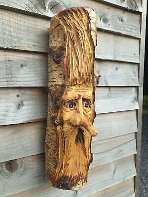 Chainsaw Carved Green Man / Wood Spirit • 34.99£