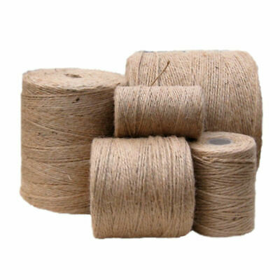2Ply Rustic Natural Jute Hessian Burlap Twine Craft Tag String Gift Ribbon Cord  • 1.20£