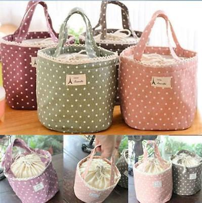 Women Ladies Girls Portable Insulated Lunch Bag Case Picnic Tote Thermal FI • 3.31£