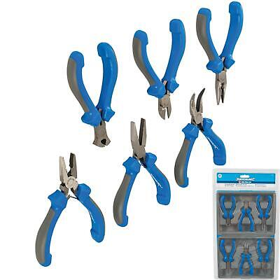 Silverline 6pc Jewellery Mini Pliers Extra Long Bent Nose Side End Cutter Set • 14.79£