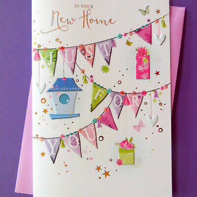 New Home Card ~ Just For You ~ Modern ~ FREE 1st P&P • 2.09£