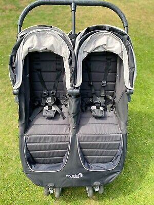 Baby Jogger City Mini Double Pushchair - Black • 230£