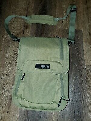 STM Protecting Your Digital Cargo Computer Crossbody Bag Work Travel 15x11 Green • 23.15£