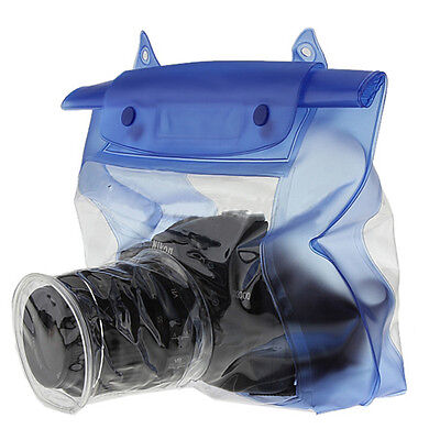Waterproof DSLR/SLR Camera Pouch Dry Bag Underwater For Canon Nikon Blue 20M • 5.15£