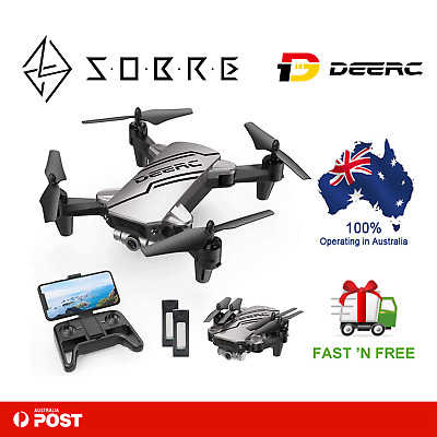 AU89.95 • Buy DEERC D20 Mini Drone For Kids With 720P HD FPV Camera Remote Control 2 Batteries