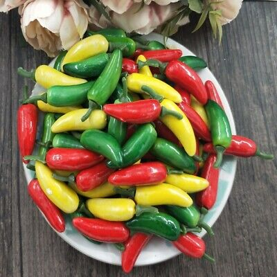 10 PCS Artificial Chili Pepper Plants Corsage For New Year's Home Decoration • 2.07£