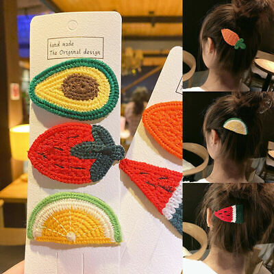 $ CDN2.59 • Buy 5Pcs/Set Cute Fashion Gift Hairpin For Girls Hair Clip Accessories Fruit Design