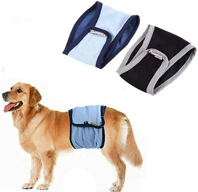 2PC Male Dog Puppy Nappy Diapers Belly Wrap Band Sanitary Physiological Pants • 9.99£