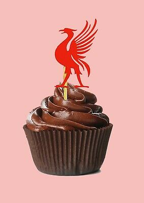 Liverpool Inspired Cupcake Toppers Card Fairy Cupcake Toppers, Football Birthday • 5.99£
