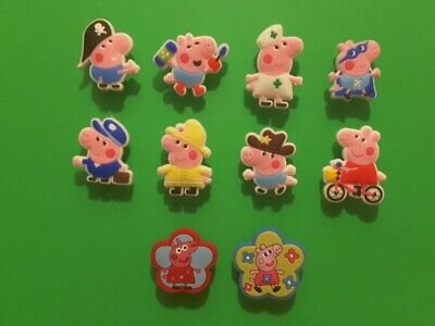 10pcs 2D PVC Shoe Charms Peppa Pig 6 Similar To Jibbitz Fits Crocs • 3.35£