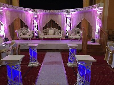 Asian Wedding Decor - Stages, Backdrops, Centrepieces, Material, Chair Covers • 0.99£