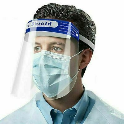 Full Face Shield Visor Protection Mask Sheild Safety Clear PPE FREE UK SHIPPING • 2.55£