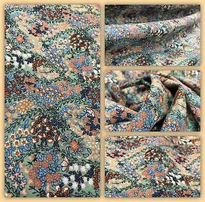 """Soft Printed Poly Viscose Floral Print Dress Fabric, 52"""" Wide, Metre Price • 5.50£"""