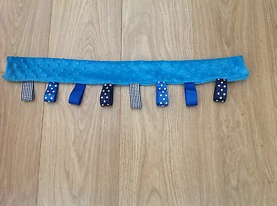 Handmade Dimple Plush Turquoise Bumper Bar Cover ICandy Sweet Pea • 10.99£