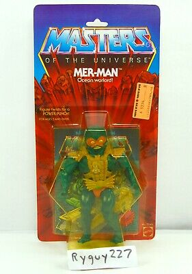 $395 • Buy MOTU, Mer-Man, Open 8-back, Masters Of The Universe, Figure, Green Belt, Card