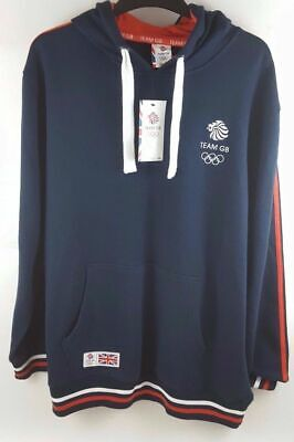 Official London 2012 Great Britain Olympics Mens Blue Hoodie Team GB Hoody Small • 21.99£