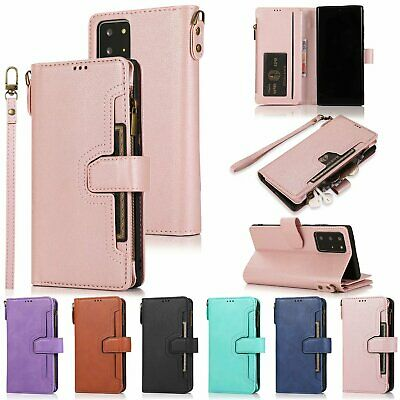 $ CDN15.16 • Buy For Samsung Galaxy Note20 Ultra S20 S10 A51 A71 Leather Zipper Wallet Case Cover