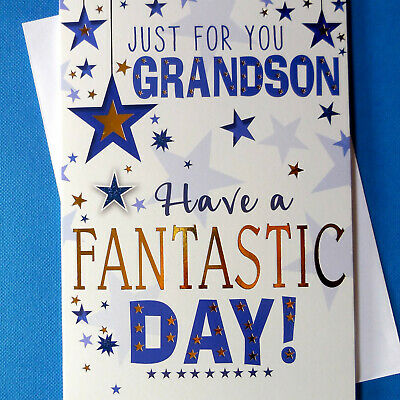 £2.19 • Buy Birthday Card ~ Special Grandson ~ Fantastic Day ~ Just For You