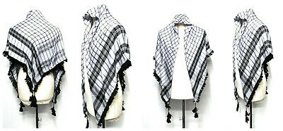 New Authentic Best Quality Arab Palestine Afghan Style Scarf Shemagh Yashmagh • 7.99£
