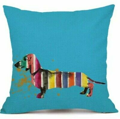 Cute Linen Dachshund Cushion Cover Large Sausage Dog Lover • 10.99£