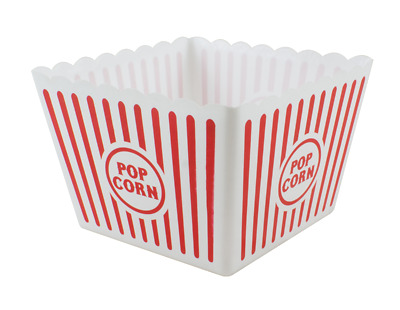 Large Plastic Popcorn Holder - Party Celebrate Birthday Parties Friends • 3.99£