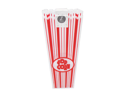2x FAMILY PACK POPCORN HOLDERS Movie Film Night Cinema Snack Bowl Tub Box Sweets • 2.29£