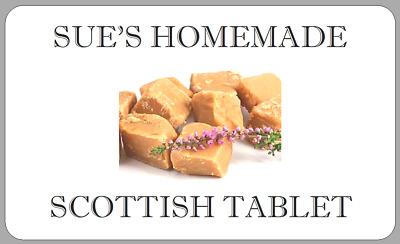£2.50 • Buy Homemade Scottish Tablet Stickers Personalised Confectionery Fudge Labels