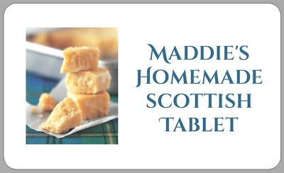 £2.50 • Buy Homemade Scottish Tablet Stickers Personalised ConfectioneryTartan Labels