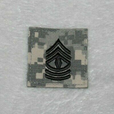 5cm X 5cm  ACU US Army E-8 First Sergeant Rank Insignia Patch Hook And Loop • 3.99£