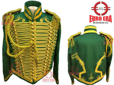 New Steampunk Men's Military Hussar Tunic Jacket With Aiguillette & Epaulettes • 190£