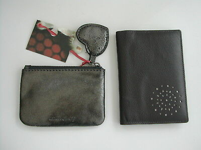 White Stuff Pewter Leather Heart Coin Purse & Brown Shilton Passport Holder Bnwt • 19.95£