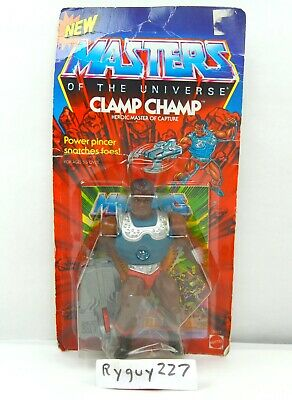 $395 • Buy MOTU, Clamp Champ, Masters Of The Universe, MOC, Carded, Sealed Figure, He-Man