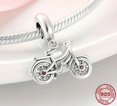 Bicycle Bike ❤️❤️ Charm Genuine Sterling Silver 925 Fits European Bracelet UK • 10.95£
