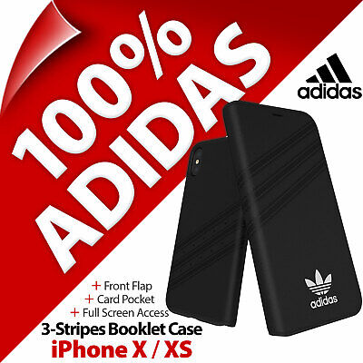 AU39.23 • Buy Adidas Originals 3-Stripes Booklet Folio Card Pocket Case For Apple IPhone X/ XS