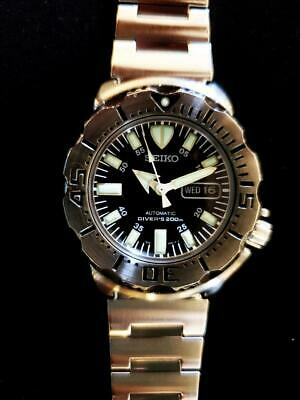 $ CDN688.10 • Buy Seiko 7S26-0350 Stainless Steel Diver Scuba Black Monster Automatic Mens Watch