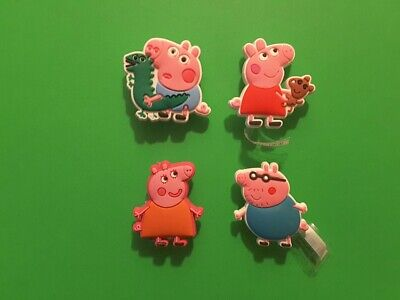 4pcs HQ PVC Shoe Charms Peppa Pig Similar To Jibbitz Fits Crocs • 3.35£