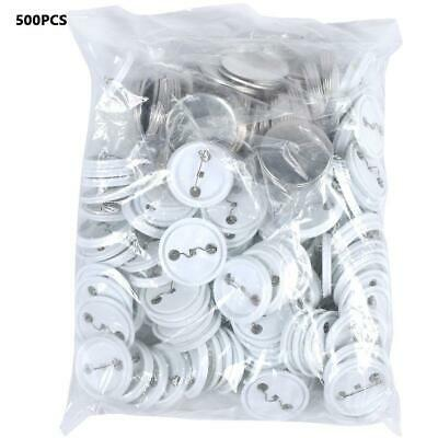 £30.19 • Buy 500pcs 44mm DIY Blank Pin Badge Button Parts Consumables For Button Maker