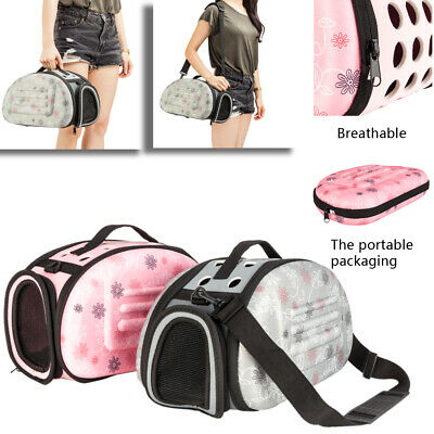 Pet Dog Cat Puppy Portable Travel Carry Carrier Tote Cage Bag Kennel EVA • 10.99£