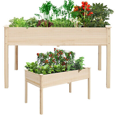 Raised Garden Bed Wooden Planter Flower Vegetable Stand Herb Grow Box Container • 69.95£